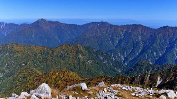 別山(北峰からみる鹿島槍ヶ岳