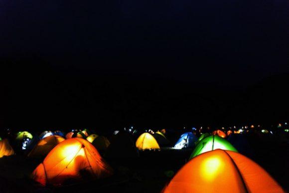 きれいな光景。テント泊の醍醐味